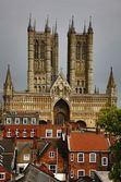 Lincoln Cathedral, Lincoln, Lincolnshire, England — Stock Photo