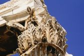 Capital Of Corinthian Column, Temple Of Olympian Zeus, Athens, Greece — Stock Photo