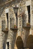 Decorative Balconies In Escalante, Cantabria, Spain — Stock Photo
