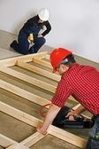Carpenters Working With Power Tools — Stock Photo