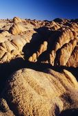 Sandstone Rock Formations, Alabama Hills, Eastern Sierra Nevada Mountain Range, Owens Valley, California, Usa — Foto de Stock