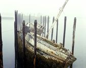 Old Fishing Boat No Longer In Use At Harbour — Stock Photo