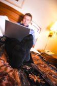 A Businessman Using A Laptop — Stock Photo