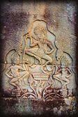 Bas-Reliefs Of Hindu Myths At Bayon Temple Of Angkor Thom, Angkor, Cambodia — Stock Photo
