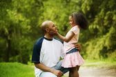 Father With Daughter In Park — Stock Photo