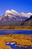 Vermilion Lakes And Mount Rundle In Banff National Park, Alberta, Canada — Stock Photo