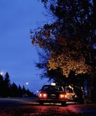 A Taxi At Night — Stock Photo
