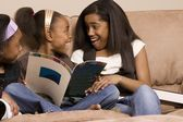 Girls Excited About Books — Stock Photo