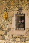 Stone Wall With Window, Cantabria, Northern Spain — Stock Photo
