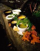 Various Traditional Irish Soups — Stock Photo