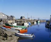 Boats Docked At Halls Harbour, Nova Scotia — Stock Photo