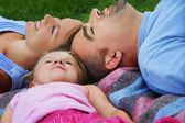 Family Laying Together — Stock Photo