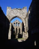 Co Down, Grey Abbey, Estab. 1193, On Strangford Lough, Ireland — Stock Photo
