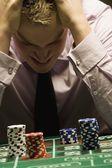 Man Loosing At Gambling — Stock Photo