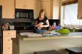 A Woman In A Kitchen — Stock Photo