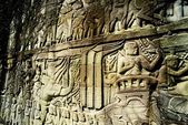 詳細の石の彫刻は、バイヨン、アンコール ・ トム、カンボジア — ストック写真