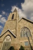 Lake Of The Woods, Kenora, Ontario, Canada. Church Spire Rising Into The Air — Stock Photo