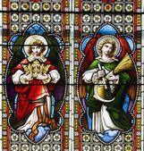 Stained Glass In A Church — Foto Stock