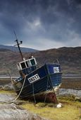 Shipwrecked Boat In Loch Sunart, Scotland — Stock Photo