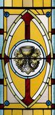 Stained Glass Window, Church, Waterloo, Quebec, Canada — Foto Stock