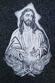 西班牙公墓中的宗教图标 — 图库照片