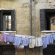 Clothing Drying On The Line, Venice, Italy — Stock Photo