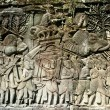 Detail Of Stone Carvings, The Bayon Temple, Angkor Thom, Cambodia — Stock Photo