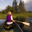 Girl Canoeing — Stock Photo #31793495