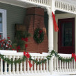 House decorated with christmas decorations — Stock Photo #31794163