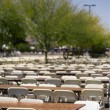 Large Amount Of Empty Chairs And Tables Sitting Outside — Stock Photo #31794945