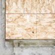 Corner Piece Of Wood Encased In Concrete — Stock Photo #31796125
