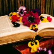 Historic Books And Floral Arrangement — Stock Photo #31797413