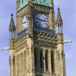 The Clock Tower Of The Centre Block Of The Canadian Parliament Building, Ottawa, Ontario, Canada — Stock Photo #31798029