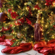Decorations On A Christmas Tree — Stock Photo