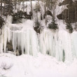 Icicles And Snow, Northern British Columbia, Canada — Stock Photo