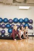 Women Stretching — Stock Photo