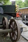 Carriages In A Train Yard — Stockfoto