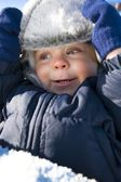 A Boy In Winter Outerwear — Stock Photo