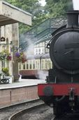 A Train At The Station — Stock Photo