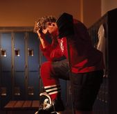 Hockey Player In Dressing Room — Stockfoto