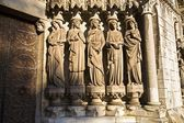 Wise And Foolish Virgins, Sculpture At West Gateway, St. Fin Barre's Cathedral, Cork City, Ireland — Stock Photo