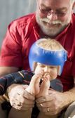 Grandpa Playing With Grandson — Stock Photo