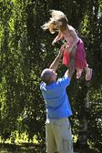 Father Being Playful With Daughter — Stock Photo