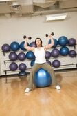 Woman Toning Muscles — Stock Photo