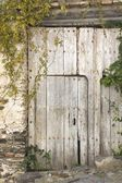 Wooden Door, Macharaviaya Inland, Costa Del Sol, Malaga Province, Spain — Stock Photo