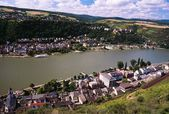 Saint Goar And The Rhine River, Germany — Stock Photo