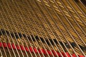 Close Up Of Piano Strings — Stock Photo