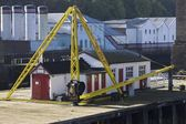 Newcastle Upon Tyne, Tyne And Wear, England. Dock — Foto Stock
