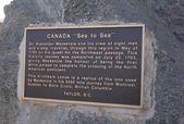 Plaque, Taylor, British Columbia, Canada — Stock fotografie