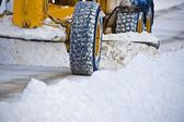Snow Plow Clearing Road — Stock Photo